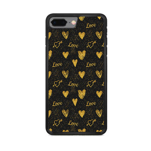 Love in Gold iPhone 7 Plus Case - carneyforia