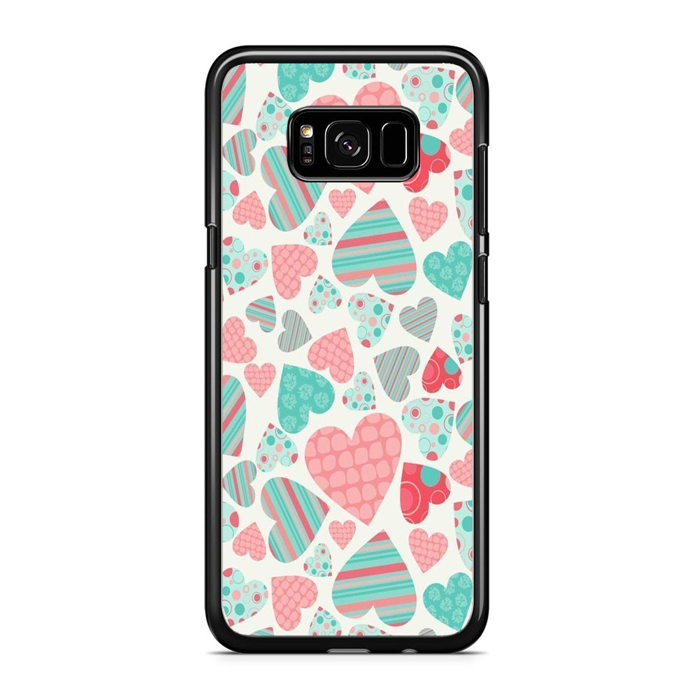 Love in Strip, Rock and Dot Samsung Galaxy S8 Plus Case