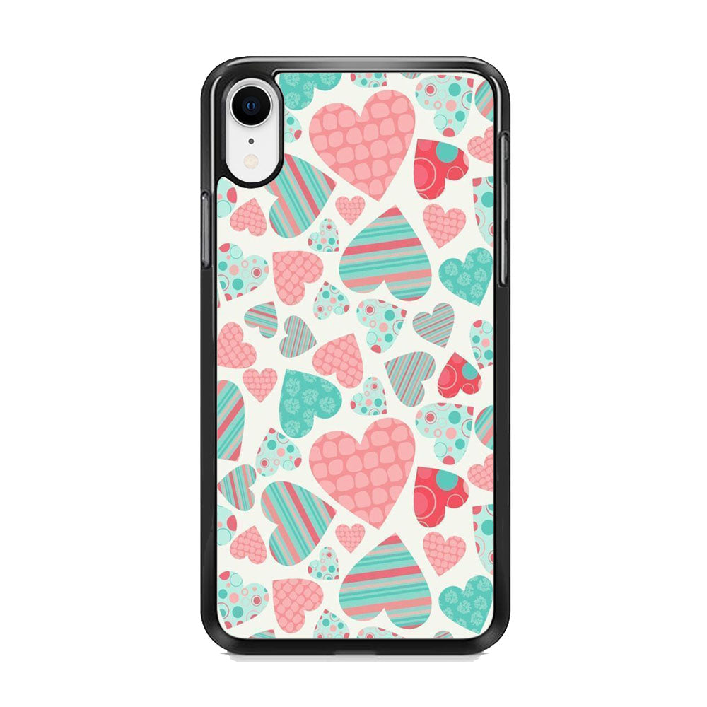 Love in Strip, Rock and Dot iPhone XR Case