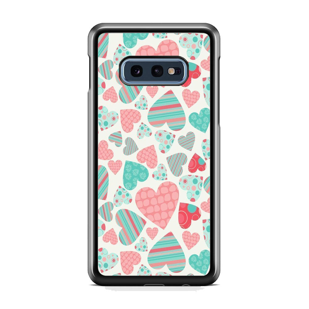 Love in Strip, Rock and Dot Samsung Galaxy S10E Case