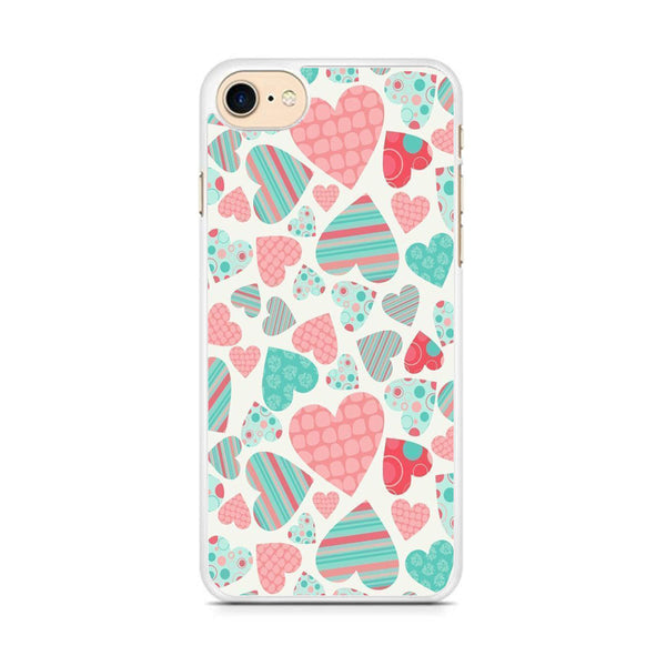 Love in Strip, Rock and Dot iPhone 8 Case
