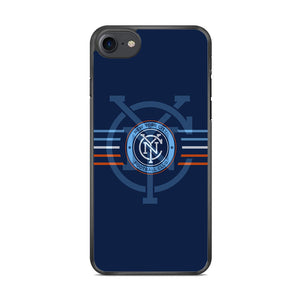 MLS New York City Logo Navy Blue Stripe iPhone 7 Case