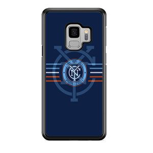MLS New York City Logo Navy Blue Stripe Samsung Galaxy S9 Case