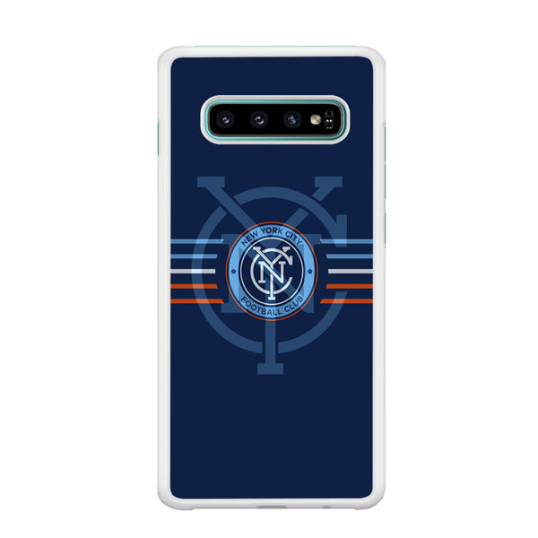 MLS New York City Logo Navy Blue Stripe Samsung Galaxy S10 Plus Case