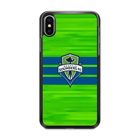 MLS Seattle Sounders FC Green Pixel iPhone XS Case