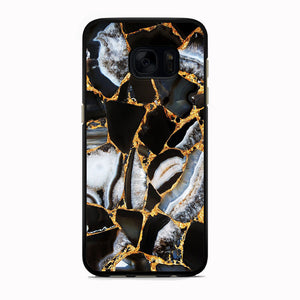 Marble Gold Paste Samsung Galaxy S7 Edge Case