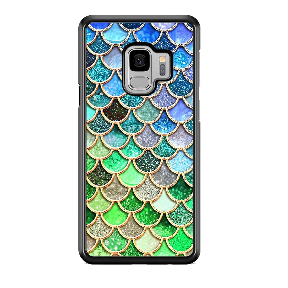 Mermaid Blue Green Shiny Shell Samsung Galaxy S9 Case