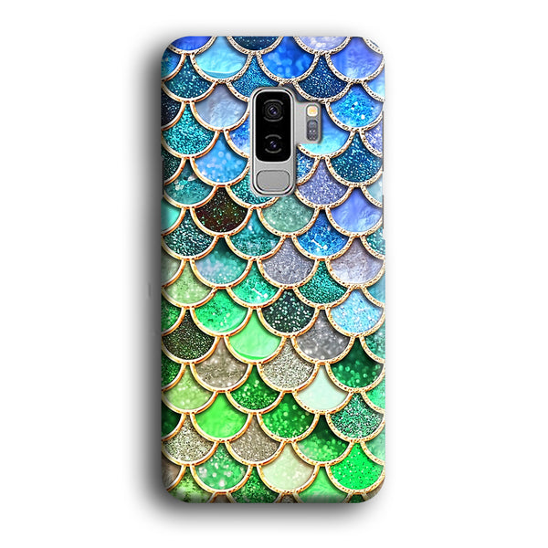 Mermaid Blue Green Shiny Shell Samsung Galaxy S9 Plus Case