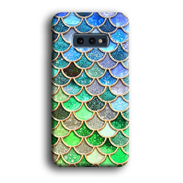 Mermaid Blue Green Shiny Shell Samsung Galaxy S10E Case