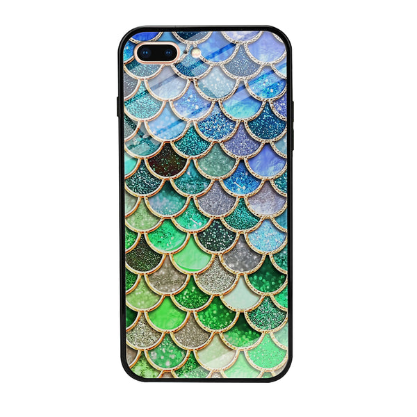 Mermaid Blue Green Shiny Shell iPhone 7 Plus Case