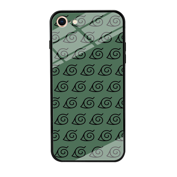 Naruto Konoha Symbol Green Wallpaper iPhone 7 Case