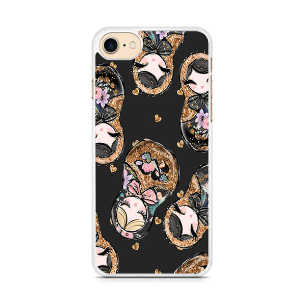 Nesting Dolls Dark Choco iPhone 8 Case