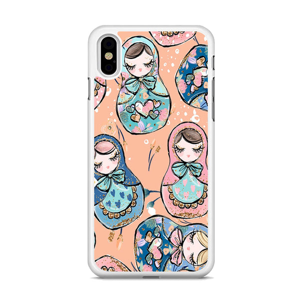 Nesting Dolls Dusk Color iPhone X Case