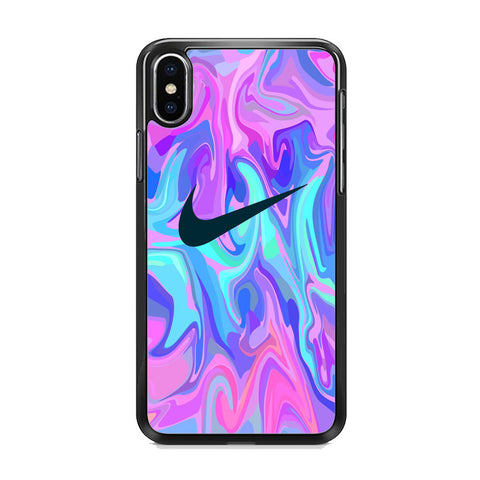 Nike Soft Marble Navy Logo iPhone XS Case