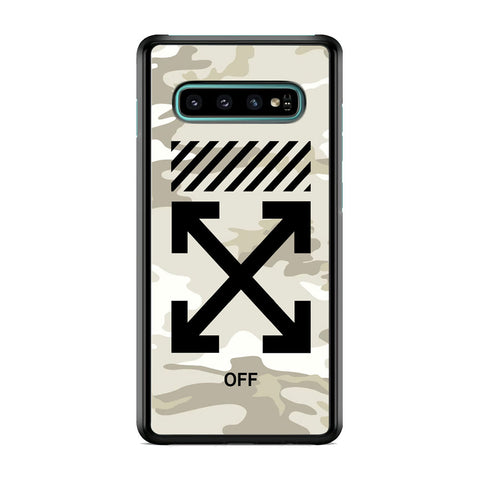 Off White Camo Light Samsung Galaxy S10 Plus Case