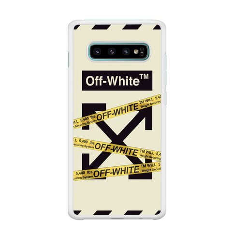 Off White Line Belts Samsung Galaxy S10 Plus Case
