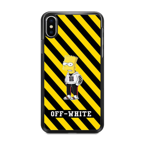 Off White Simpson Angry Style iPhone XS Case
