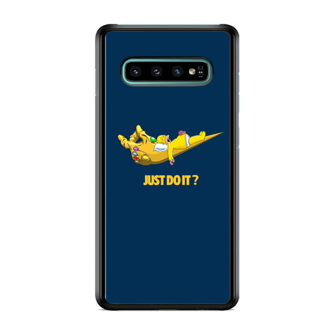 Simpson Homer Sleep In The Hands Of Thanos Samsung Galaxy S10 Plus Case