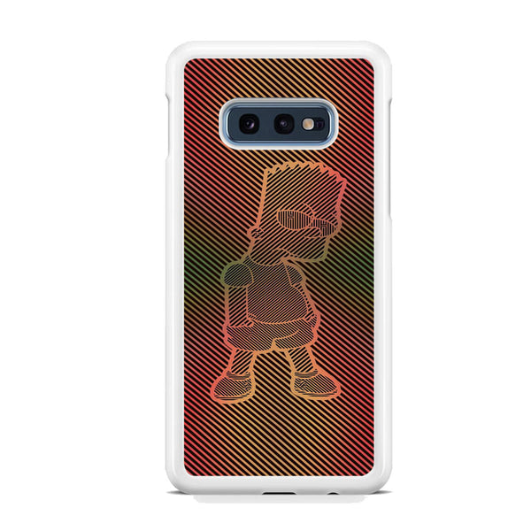 Simpson Stripe Picture Samsung Galaxy S10E Case