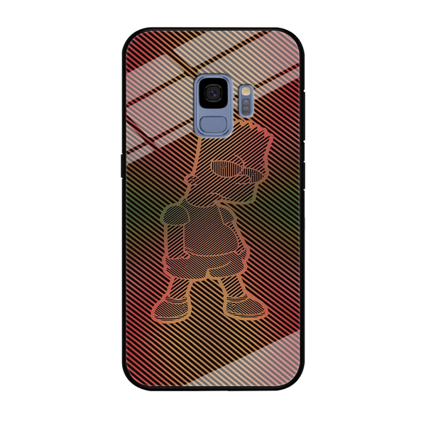 Simpson Stripe Picture Samsung Galaxy S9 Case