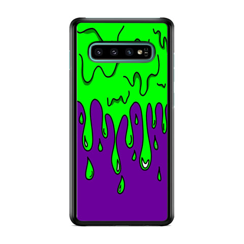Slime Green Purple Samsung Galaxy S10 Plus Case