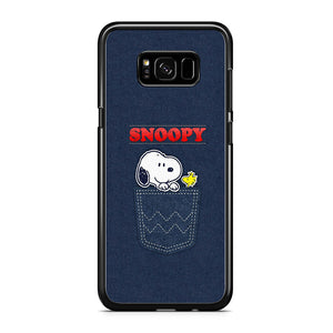 Snoopy And Woodstock In The Pocket Jeans Samsung Galaxy S8 Case