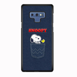 Snoopy And Woodstock In The Pocket Jeans Samsung Galaxy Note 9 Case