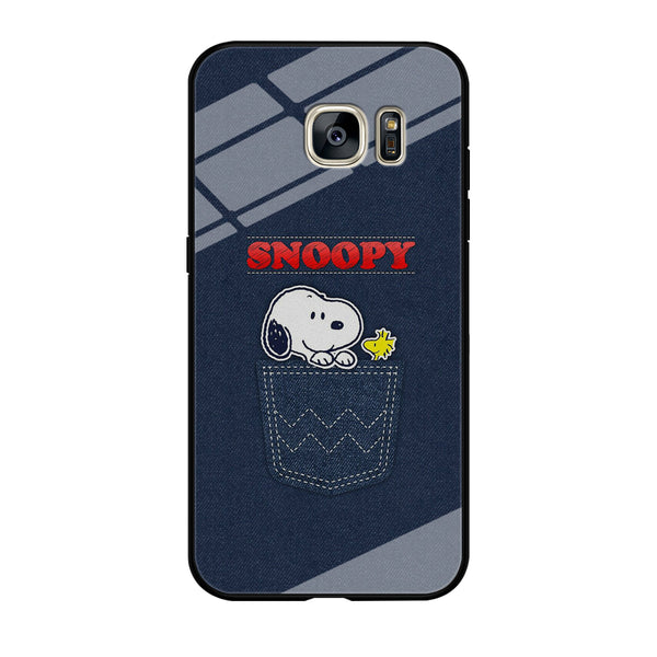 Snoopy And Woodstock In The Pocket Jeans Samsung Galaxy S7 Edge Case