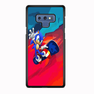 Sonic Flying With Skate Samsung Galaxy Note 9 Case