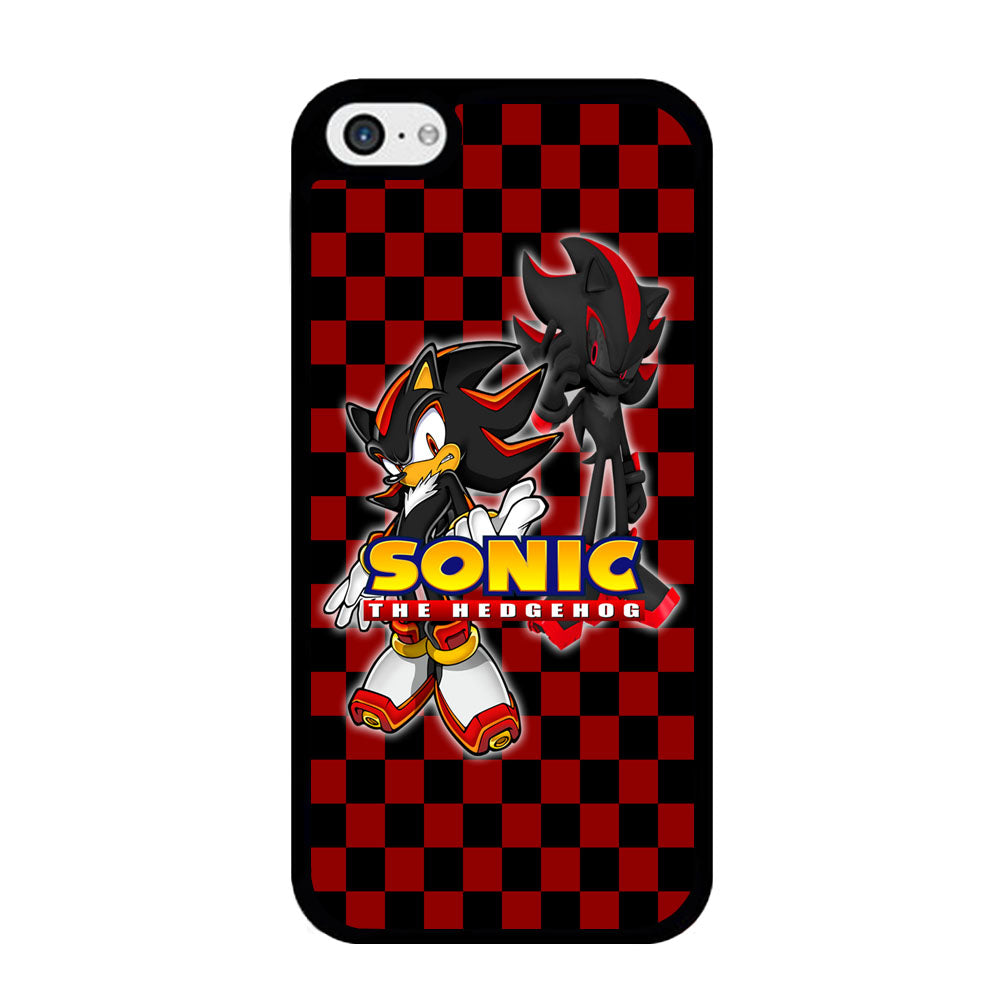 Sonic Hedgehog Red Black 2D Black iPhone 5 | 5s Case