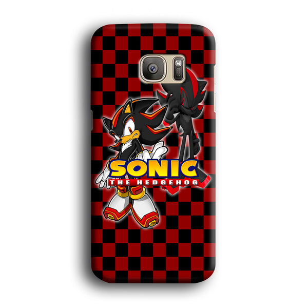 Sonic Hedgehog Red Black Samsung Galaxy S7 Edge Case