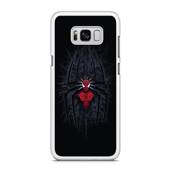 Spiderman Black Logo On The Net Samsung Galaxy S8 Case