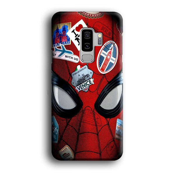 Spiderman Head Full Stickers Samsung Galaxy S9 Plus Case
