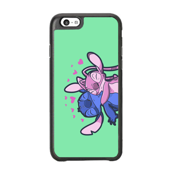 Stitch And Angel Huge Green Wallpaper iPhone 6 Plus | 6s Plus Case