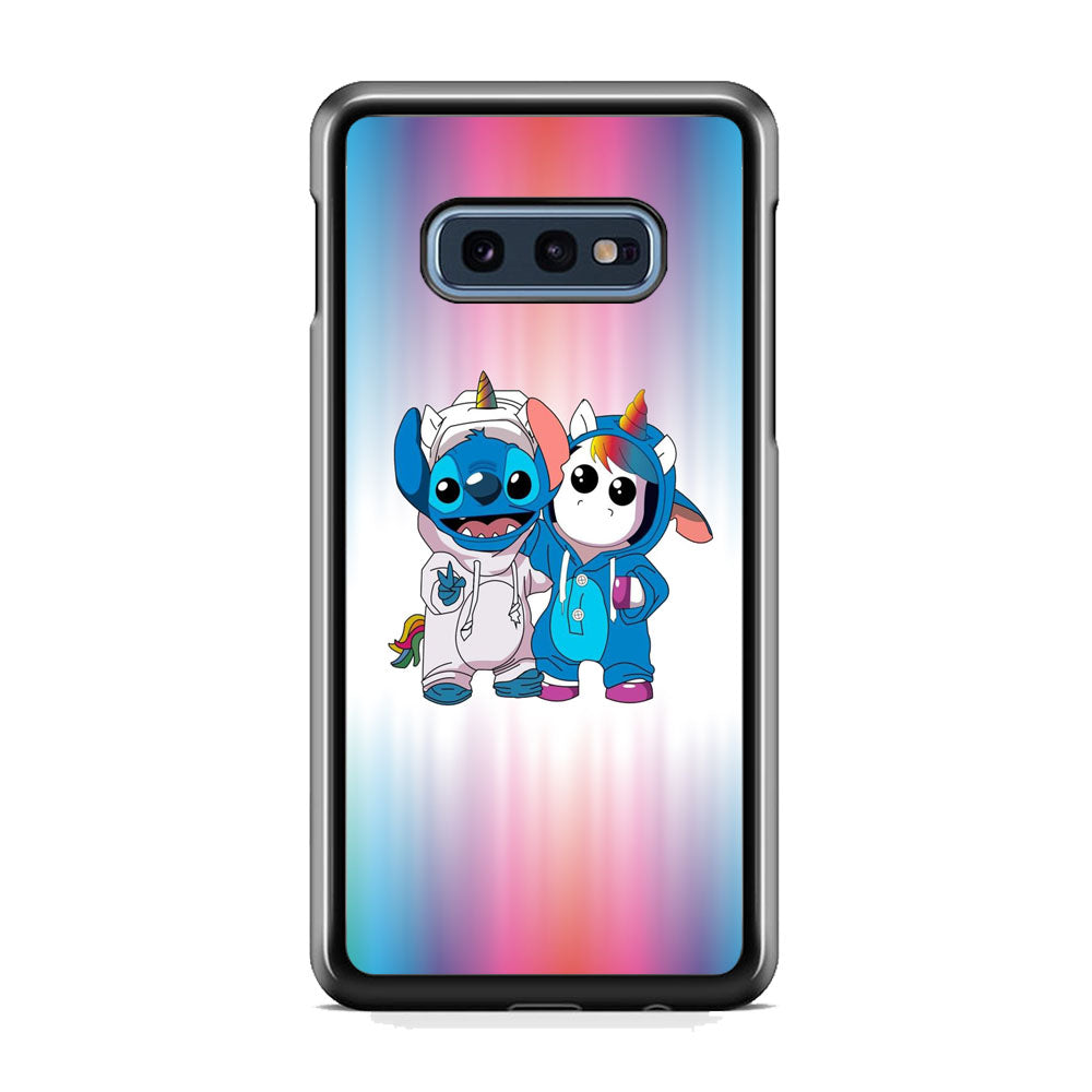 Stitch And Unicornio Soft Colour Gradation Samsung Galaxy S10E Case