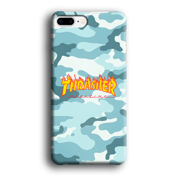 Thrasher Camo Light Blue iPhone 7 Plus Case