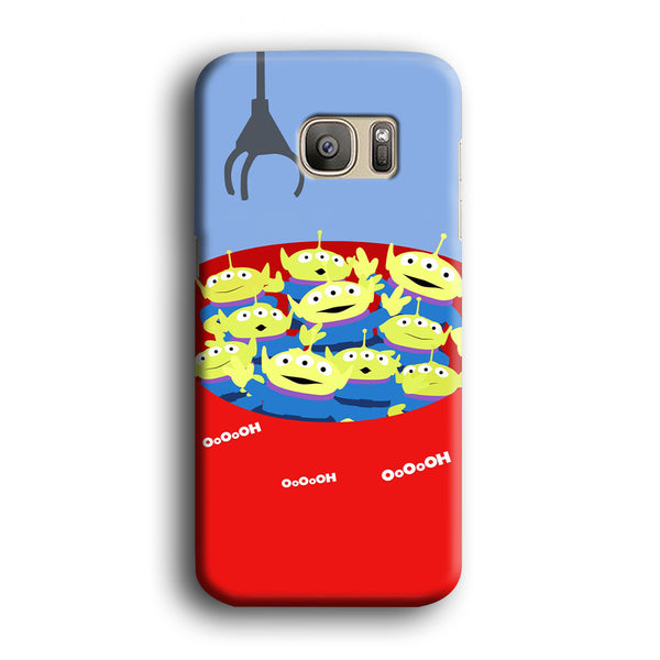 Toy Strory Geen Alien Happy With Claw Toy Samsung Galaxy S7 Edge Case