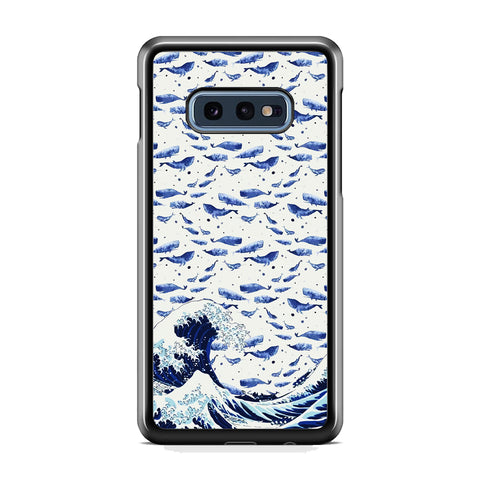 Whale on The Waves Samsung Galaxy S10E Case