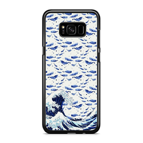 Whale on The Waves Samsung Galaxy S8 Case