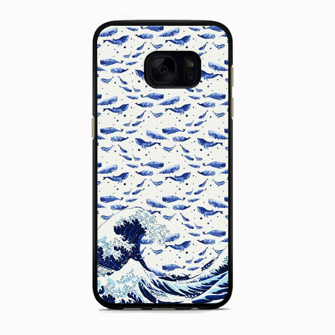 Whale on The Waves Samsung Galaxy S7 Edge Case
