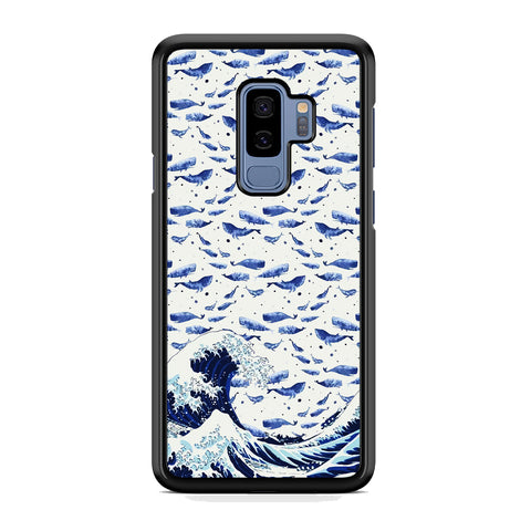 Whale on The Waves Samsung Galaxy S9 Plus Case