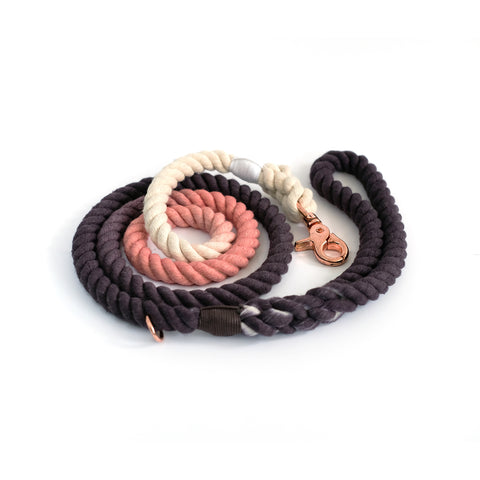 Coal Pink Cotton Rope Leash