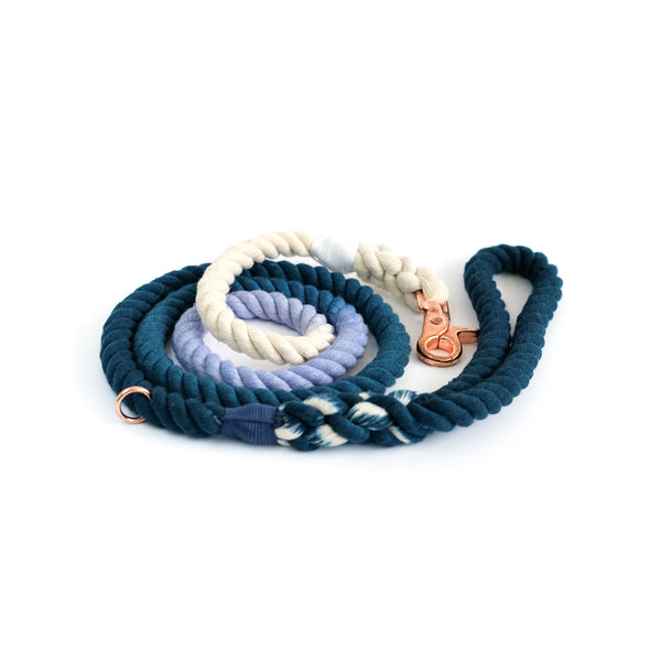 Navy Sea Cotton Rope Leash
