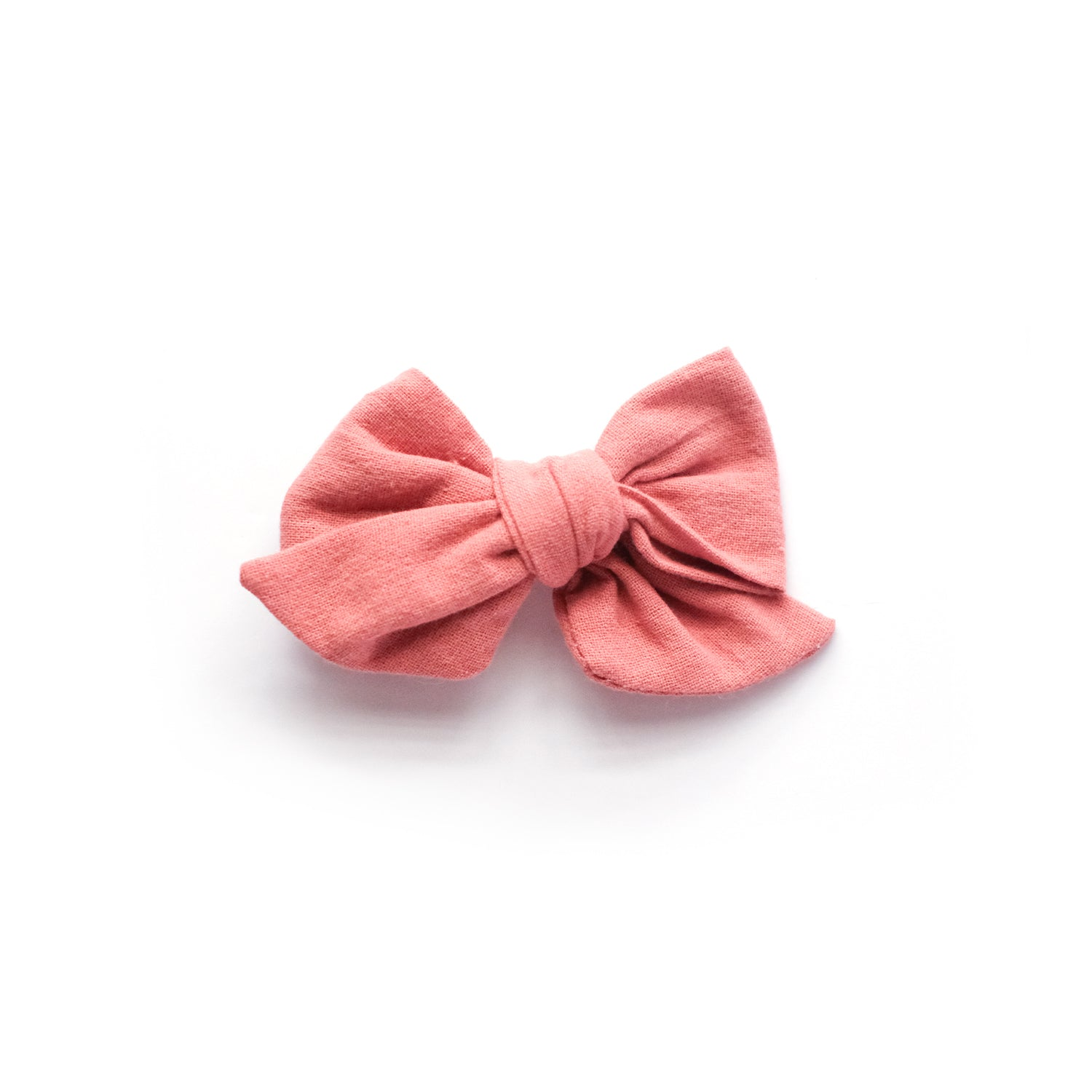 Old Rose Linen Bow