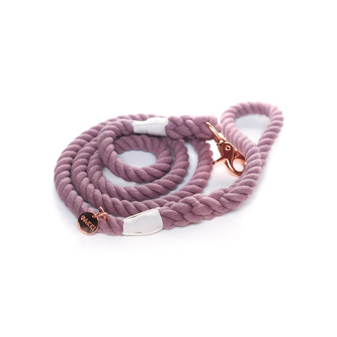 Periwinkle Cotton Rope Leash