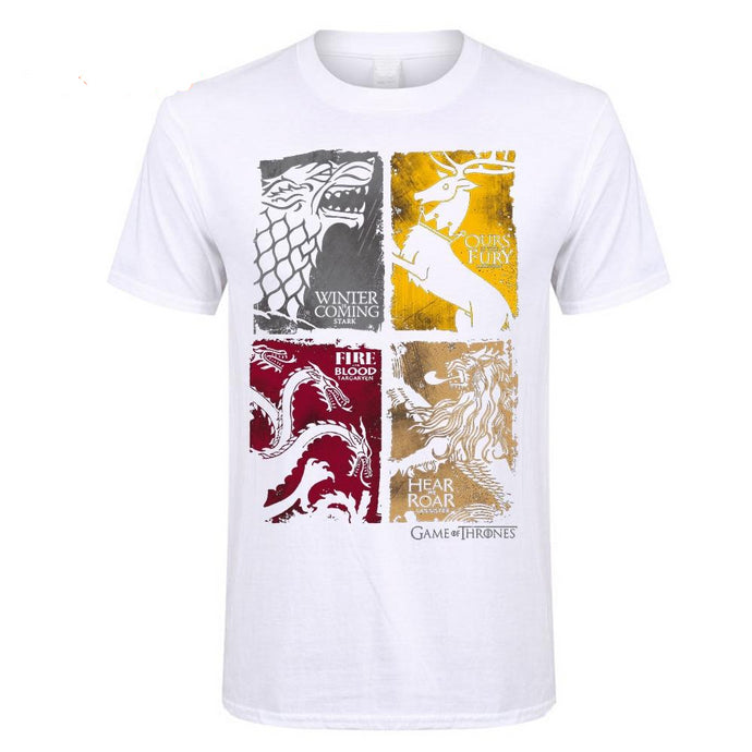 T-Shirt Game of Thrones Prétendants au Trône Blanc