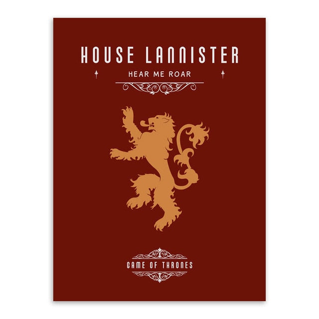 Poster Game of Thrones Maison Lannister