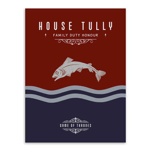 Poster Game of Thrones Maison Tully