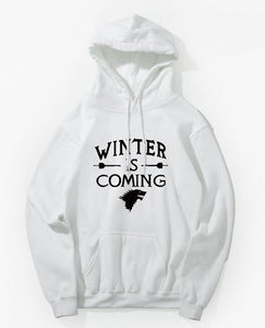 Sweat Game of Thrones Winter is Coming Blanc