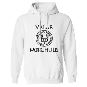 Sweat Game of Thrones Sans-Visage Valar Morghulis Blanc